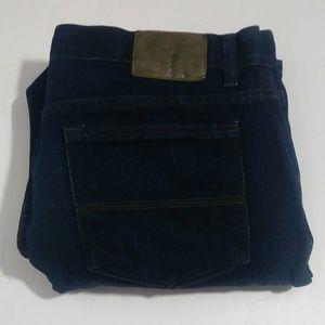 Izod Men's relaxed dark blue jeans size 36 X 30